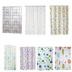 Bathroom Waterproof Liners Shower Curtain Plastic Modern Bat