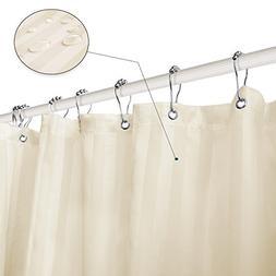 Subrtex Bathroom Waterproof Printed Stripe Shower Curtain Li