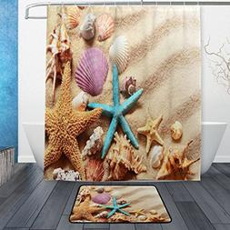 ALAZA Set of 2 Beach Ocean Sea Landscape 60 X 72 Inches Show