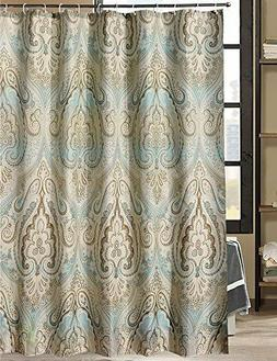 LanMeng Beautiful, Elegant, Fabric Shower Curtain w/hooks In