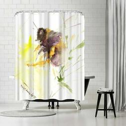 Americanflat 'Bee 1' Shower Curtain Yellow