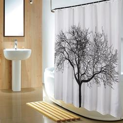 Big tree mildew thick waterproof fabric shower curtain home