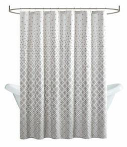 "Madison Park Biloxi Shower Curtain in Gray - 72"" X 72"""