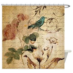 CafePress - Vintage Rose Bird Paris French Bota - Decorative