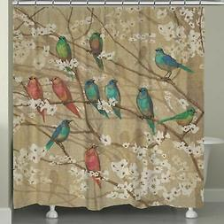 "Laural Home Birds And Blossoms Shower Curtain - 72""x72"" - NE"