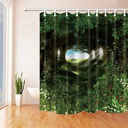 SZDR The birds in the quiet forest - the decorative shower c