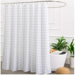 Aimjerry Black and White Fabric Shower Curtain for Bathroom,