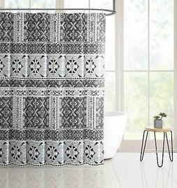 Black Gray PEVA Shower Curtain Liner Odorless, PVC/Chlorine