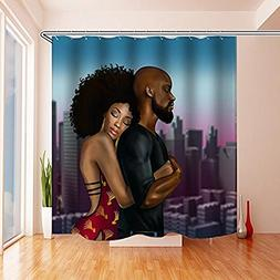 Black Is Beautiful, Black Art Love Family Afrocentric Shower