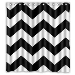 YEHO Art Gallery Black and White Chevron Zigzag Pattern Wate