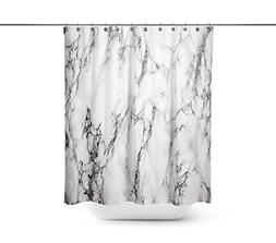 Black and white d marble background Shower Curtains,Water-
