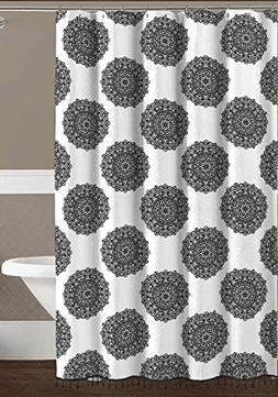 Black White Mandala Fabric Shower Curtain: Fun and Elegant B