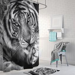 Gwein Black and White of Wild Animals Tiger Home Decor Showe