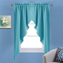 NICETOWN Blackout Home Decor Kitchen Tier Curtains- Tailored