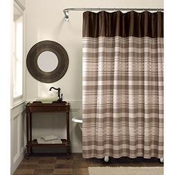 Maytex Blake Chenille Fabric Shower Curtain, Blake