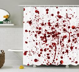 Ambesonne Bloody Shower Curtain Set, Splashes of Blood Grung