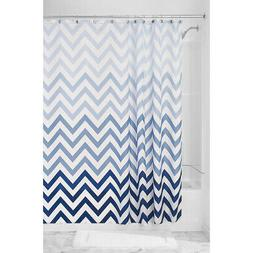InterDesign Blue Ombre Chevron Shower Curtain