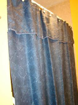 Blue Shower Curtain with Liner - Excell Home Fashions - 100%