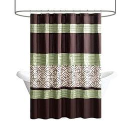 Madison Park   Briggs Faux Silk Shower Curtain W/Embroidery