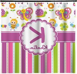 RNK Shops Butterflies & Stripes Extra Long Shower Curtain -