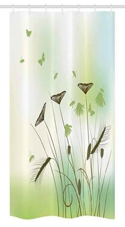 Ambesonne Butterfly Stall Shower Curtain, Silhouette of Drag