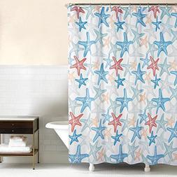 C & F Enterprises Fabric Cotton Shower Curtain Green Blue Co