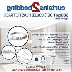 """C2B 196""""  Plastic Curtain Track - Strong, Bendable Curtain T"""