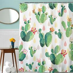 Goodbath Cactus Flowers Shower Curtains, Mildew Resistant Wa
