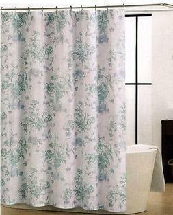 calvin blues aqua white floral flowers fabric