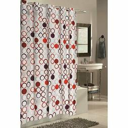 Carnation Home Fashions EZ On Fabric Shower Curtain with Bui