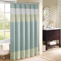Madison Park Amherst Polyester Faux Silk Shower Curtain