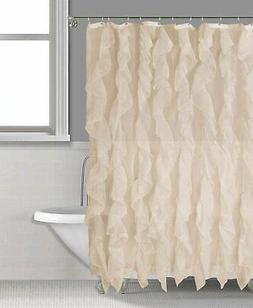 "Bathroom Shower Curtain, Ruffle Shower Curtain, 70"" x 72"", S"