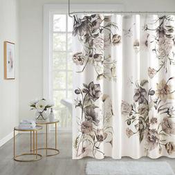Madison Park Cassandra Printed Cotton Shower Curtain