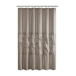 Comfort Spaces – Cavoy Shower Curtain – Taupe – Tufted