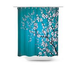 Dynabit Cherry Blossom Fabric Shower Curtain Set Mildew Resi