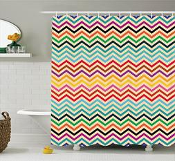 Ambesonne Chevron Decor Collection, Geometric Ethnic Zig Zag