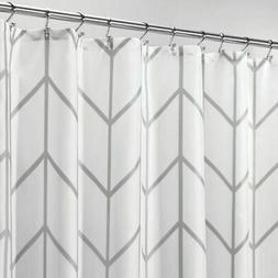 mDesign Chevron Print - Easy Care Fabric Shower Curtain - 72