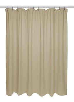 Carnation Home Fashions Chevron Weave 100% Cotton Shower Cur