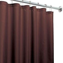 Chocolate Heavy Duty Magnetized Shower Curtain Liner Mildew