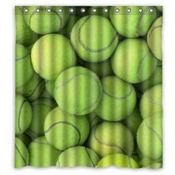 """Best Choice - Sport Tennis Green Ball Shower Curtain 66""""x72"""""""