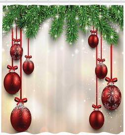 Ambesonne Christmas Decorations Shower Curtain HOLIDAY Winte