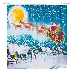 Moldiy Christmas Series Polyester Bathroom Shower Curtain fo