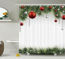 Ambesonne Christmas Shower Curtain, Classical Christmas Orna