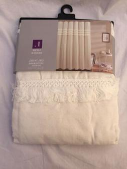 Ciel Linen Tassel Shower Curtain - Lush Décor 72 x 72 in