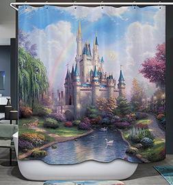 Cinderella Castle Shower Curtain Magical Scenic Place Fantas