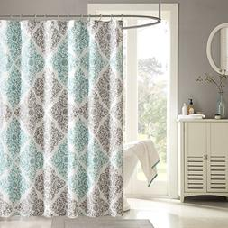 Claire Design Pattern Fabric Shower Curtain, Medallion Casua
