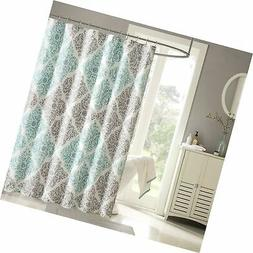 "Madison Park Claire Shower Curtain Aqua Gray 72x72"" MP70-146"