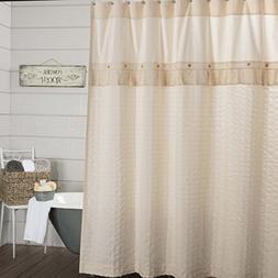 Piper Classics Clara's Cottage Natural Shower Curtain. 72x72