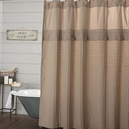Piper Classics Clara's Cottage Taupe Shower Curtain. 72x72,