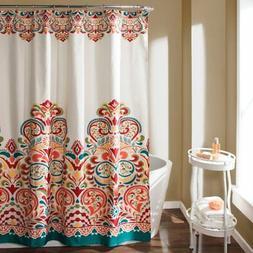 Lush Decor Clara Fabric Shower Curtain